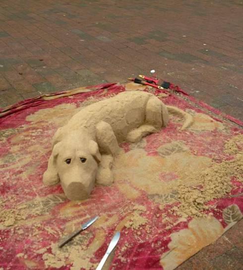 Sand Sculpture, Lewes